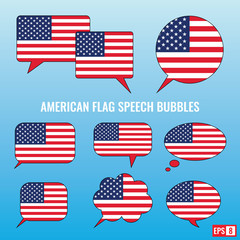 American Flag Speech Bubbles