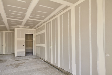 Construction building industry drywall taping interior mudding
