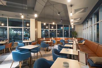 Modern restaurant in office building
