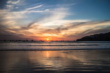 san juan del sur beach view during sunset