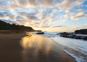 Beach at Sunset, Kauai, Hawaii