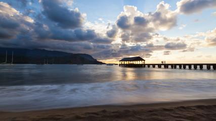 Hanalei Bay Pier Kauai, Hawaii