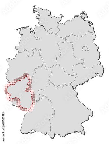 Map Of Germany Rhineland.Map Germany Rhineland Palatinate Stock Image And Royalty Free