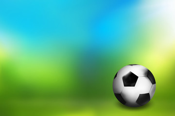 Football ball outdoor 3D sports design background image