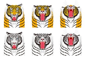虎の表情 怒り 怒る