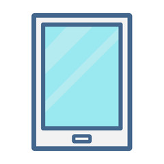 tablet in trendy linear style