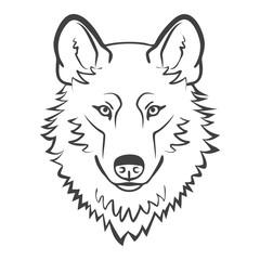 Wolf head mascot.
