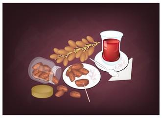 Traditional Black Hot Tea, Popular Drink in Azerbaijan