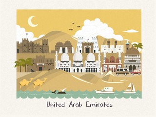 UAE scenery illustration