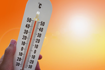 thermometer with hot temperature