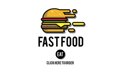 Fastfood Burger Junk Meal Takeaway Calories Concept