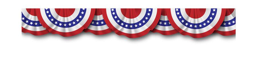 Vector of bunting American flags