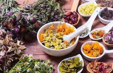 Herbs , berries and flowers