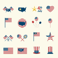 USA  Independence Day icon. USA celebration 4th july icon. independence day icon vector illustration