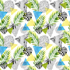 Poster Graphic Prints Abstract summer geometric seamless pattern