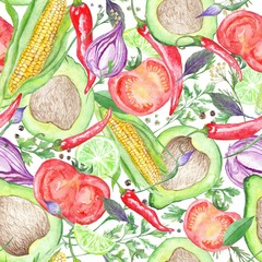 Vegetarian Vegetable Pattern