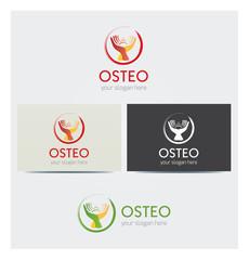 Logo Icône Mains Soins Médicaux Carte de Visite et Charte Graphique Entreprise Plusieurs Couleurs