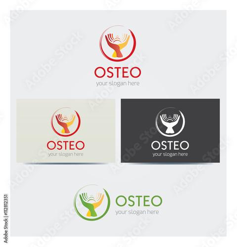 Logo Icone Mains Soins Medicaux Carte De Visite Et Charte Graphique Entreprise Plusieurs Couleurs