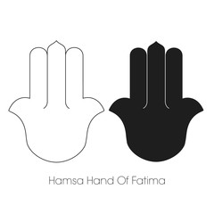 Hamsa Hand Of Fatima, Khamsa, Arabic, Protection Amulet, Vector, Symbol