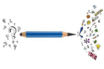 Sharp pencil with creative design