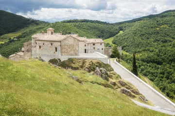 view over Elcito in Italy Marche