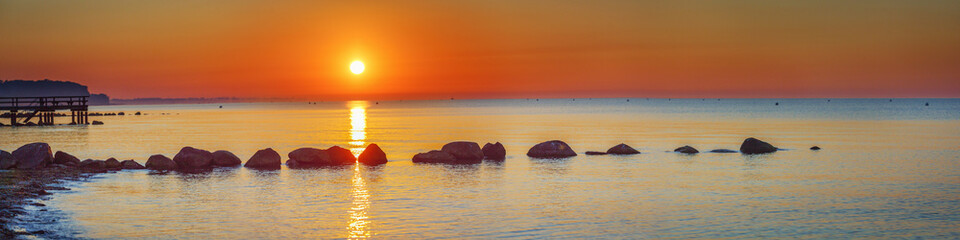 Baltic Sea, Germany, Schleswig-Holstein, Sunrise