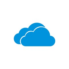 Logo two cloud blue vector