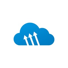 Logo cloud arrow icon vector