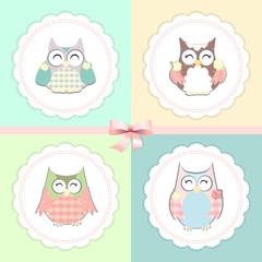 little owls vector