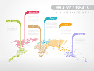 Colorful Infographic World Map