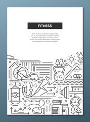 Fitness - line design composition