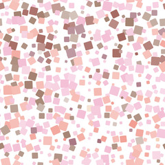 Mosaic pink seamless pattern on white background. Vector