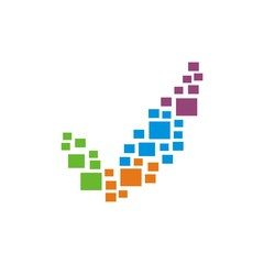 technology colorful logo business