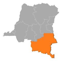 Map - Democratic Republic of the Congo, Katanga