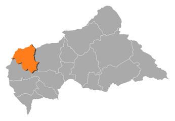 Map - Central African Republic, Ouham-Pendé