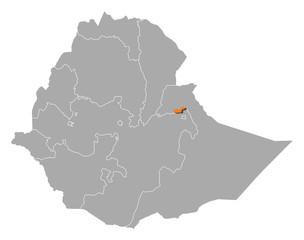 Obraz Map - Ethiopia, Dire Dawa - fototapety do salonu