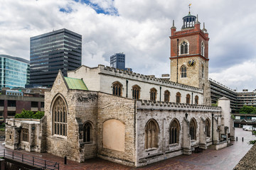 St. Giles Without Cripplegate Church. Barbican Estate, London.
