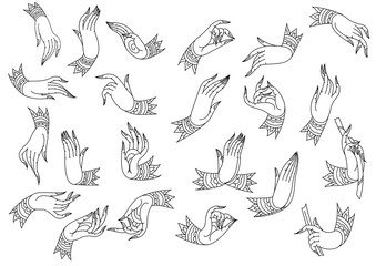 Set hand outline
