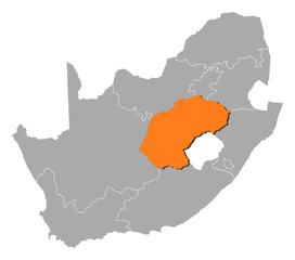 Map - South Africa, Free State
