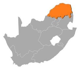 Map - South Africa, Limpopo