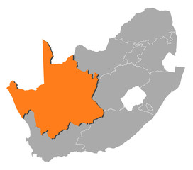 Map - South Africa, Northern Cape