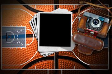 Basketball - Old Camera and Photo Frames