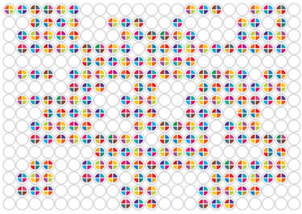 abstract vector background with colorful mosaic circles