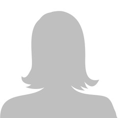 Profile picture illustration - woman, vector