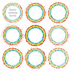 Rainbow abstract vector frame