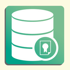 Database Certificate Icon, Database Certificate Eps10, Database Certificate Vector, Database Certificate Eps, Database Certificate App, Database Certificate Jpg, Database Certificate Web