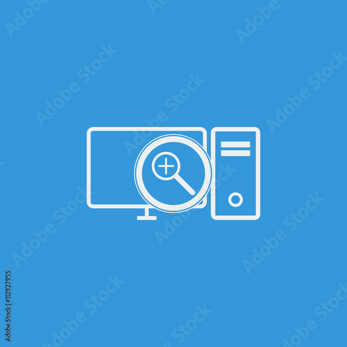 Pc Zoom In Icon, Pc Zoom In Eps10, Pc Zoom In Vector, Pc Zoom In Eps