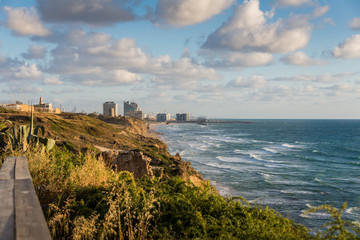 Herzliya view from Apollonia National Park