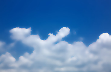 blue sky background with  clouds ,blur,selective focus
