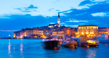 Romantic Rovinj is a town in Croatia situated on the north Adriatic Sea Located on the western coast of the Istrian peninsula, it is a popular tourist resort and an active fishing port.